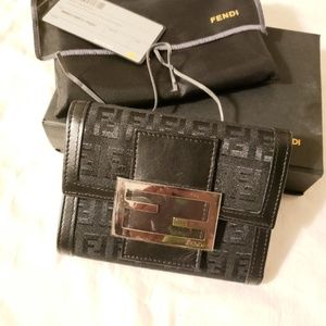 Fendi authentic black wallet